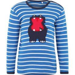 Bluzki dziewczęce bawełniane: Fred's World by GREEN COTTON ZGREEN BABY HIPPO STRIPE Bluzka z długim rękawem royal blue/cream