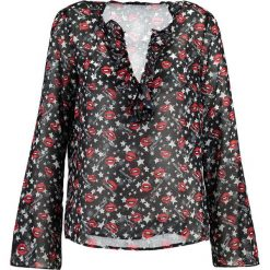Sisley BLOUSE Bluzka black. Czarne t-shirty chłopięce Sisley, z materiału. W wyprzedaży za 169,50 zł.