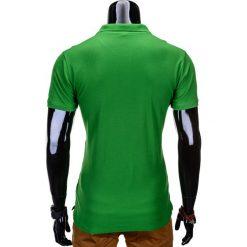 KOSZULKA MĘSKA POLO BEZ NADRUKU S715 - JASNOZIELONA. Zielone koszulki polo Ombre Clothing, m, z nadrukiem, z materiału. Za 39,00 zł.