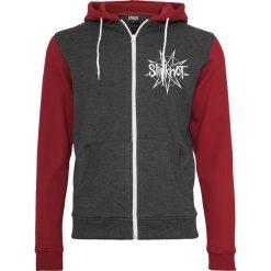 Slipknot Goat Star Logo Bluza z kapturem rozpinana czerwony/szary. Czerwone bluzy męskie rozpinane Slipknot, m, z nadrukiem, z kapturem. Za 199,90 zł.