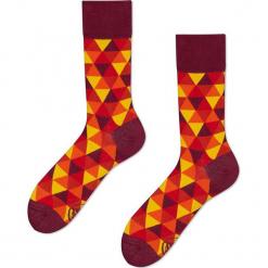 Many Mornings - Skarpety Flame Triangles. Żółte skarpetki męskie marki B'TWIN, m, z elastanu, z długim rękawem. Za 24,90 zł.