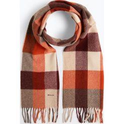 Gant - Szalik męski, pomarańczowy. Brązowe szaliki męskie GANT, w kratkę, z wełny. Za 299,95 zł.