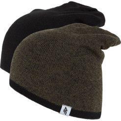 Czapka męska CAM010z - khaki melanż - 4F. Brązowe czapki zimowe męskie 4f, na jesień, melanż, z materiału. Za 44,99 zł.