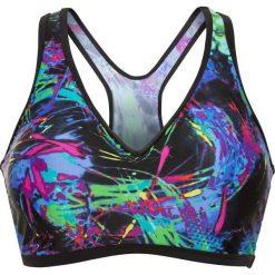 Biustonosz bikini bonprix niebiesko-zielony z nadrukiem. Niebieskie bikini marki bonprix, z nadrukiem. Za 34,99 zł.