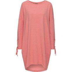 Sukienka dresowa ze sznurowaniem bonprix koralowy melanż. Czarne sukienki dresowe marki bonprix, w kolorowe wzory. Za 79,99 zł.