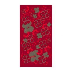 Chusty damskie: HAD Chusta damska Fleece Bloom czerwona (HAD-5896-424)