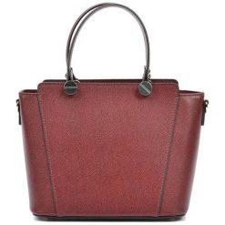 Torebki i plecaki damskie: Skórzana torebka w kolorze bordowym – (S)22,5 x (W)26 x (G)13 cm
