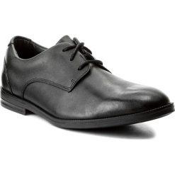Półbuty CLARKS - Rufus Edge Bl 261268366 Black Leather. Czarne półbuty skórzane męskie Clarks. W wyprzedaży za 179,00 zł.