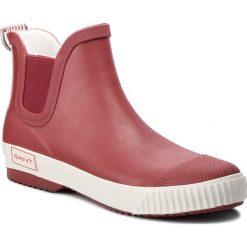 Kalosze GANT - Mandy 17599835 Chili Oil Red G517. Czerwone buty zimowe damskie GANT, z polaru. Za 269,90 zł.