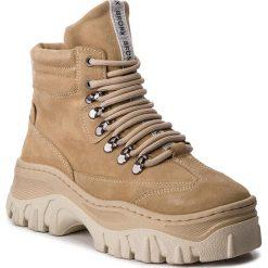 Trapery BRONX - 47174-C BX 1553 Cappuccino 125. Czarne buty zimowe damskie marki Bronx, z materiału. W wyprzedaży za 519,00 zł.