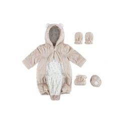 Kombinezony niemowlęce: KANZ Baby Kombinezon plusz Teddy doeskin beige
