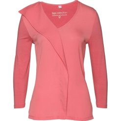 Bluzka shirtowa bonprix pastelowy dymny różowy. Czerwone bluzki z odkrytymi ramionami marki bonprix, z tkaniny. Za 37,99 zł.