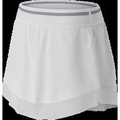 New Balance WK61406WT. Białe spódnice wieczorowe marki QUIOSQUE, s, z haftami, z tkaniny, dopasowane. W wyprzedaży za 99,99 zł.