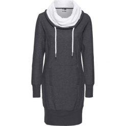Długie sukienki: Sukienka dresowa, długi rękaw bonprix szary melanż