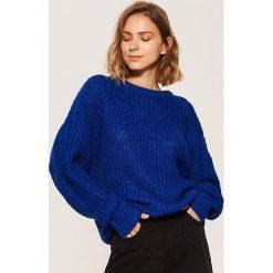 Sweter oversize - Niebieski. Niebieskie swetry oversize damskie marki House, l. Za 69,99 zł.