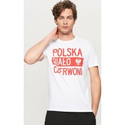 T-shirty męskie: T-shirt dla kibica - Biały