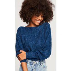 Sweter z zabudowanym dekoltem - Granatowy. Niebieskie swetry klasyczne damskie Reserved, m. Za 59,99 zł.