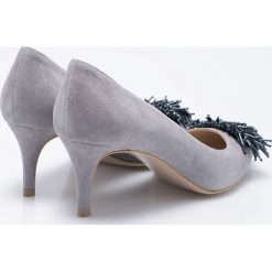 Gino Rossi - Czółenka Rumi. Szare buty ślubne damskie marki Gino Rossi, z materiału, na obcasie. W wyprzedaży za 229,90 zł.