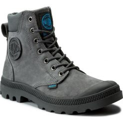 Trapery PALLADIUM - Pampa Cuff Wp Lux 73231-077-M Iron Gate/Diva Blue. Szare buty zimowe damskie marki Palladium, z materiału. W wyprzedaży za 379,00 zł.