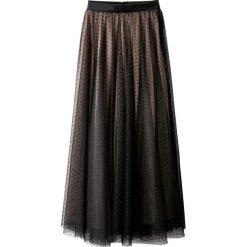 Długie spódnice: Elegancka spódnica z haftem atłaskowym