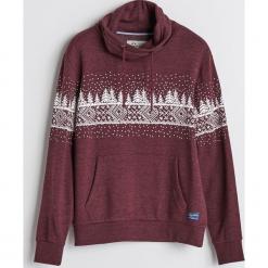Bluza z motywem zimowym - Bordowy. Czerwone bluzy męskie rozpinane marki KALENJI, m, z elastanu, z długim rękawem, długie. Za 99,99 zł.