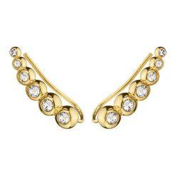 Kolczyki damskie: Kolczyki-nausznice w kolorze złotym z kryształami