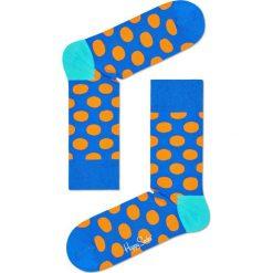 Happy Socks - Skarpety Big Dot. Niebieskie skarpetki męskie Happy Socks, z bawełny. W wyprzedaży za 27,90 zł.