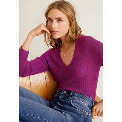 Mango - Sweter Kling. Fioletowe swetry klasyczne damskie marki Mango, l, z dzianiny. Za 99,90 zł.