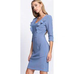 Niebieska Sukienka Black Out. Sukienki małe czarne marki Born2be, na jesień, xl. Za 29,99 zł.