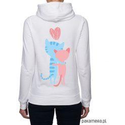 Bluzy rozpinane damskie: Bluza damska z kotkami