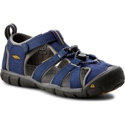 Sandały KEEN - Seacamp II Cnx  1010096 Blue Depths/Gargoyle. Niebieskie sandały męskie skórzane Keen. W wyprzedaży za 199,00 zł.