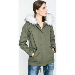 Answear - Kurtka Blossom Mood. Szare kurtki damskie marki ANSWEAR, l, z poliesteru, z długim rękawem, długie. W wyprzedaży za 149,90 zł.