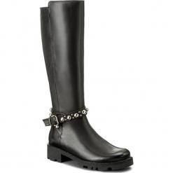 Kozaki KARINO - 2452/076-F Czarny/Lico. Czarne buty zimowe damskie Karino, ze skóry, przed kolano, na wysokim obcasie, na obcasie. W wyprzedaży za 349,00 zł.