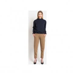 Spodnie WOOLLY CAMEL LTD. - wełna. Brązowe spodnie z wysokim stanem TRUE COLOR by Ann, z tkaniny. Za 329,00 zł.