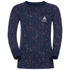 T-shirty damskie: Odlo Komplet koszulka + spodnie Set shirt l/s pants long WARM – 150409 – 150409/30357/80