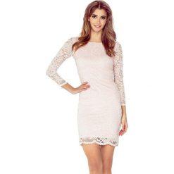 Sukienki: Natalia Sukienka z KORONKI – BRZOSKWINIA