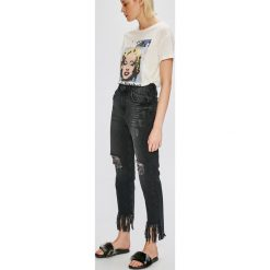 Noisy May - Jeansy. Czarne jeansy damskie z wysokim stanem marki Noisy May. W wyprzedaży za 119,90 zł.