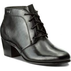 Botki CLARKS - Ceara Fern Gtx 261299174 Black Leather. Czarne botki damskie na obcasie marki Clarks, z gore-texu. W wyprzedaży za 349,00 zł.