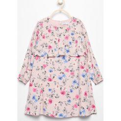 Sukienki dziewczęce: Sukienka w kwiaty - Biały