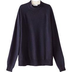 Sweter ze stójką z wełny. Szare golfy damskie marki La Redoute Collections, m, z bawełny, z kapturem. Za 151,16 zł.
