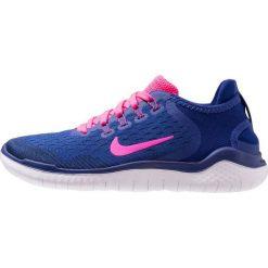 Nike Performance FREE RN 2018 Obuwie do biegania neutralne deep royal blue/pink blast/obsidian/white. Niebieskie buty do biegania damskie marki Nike Performance, z materiału. Za 459,00 zł.