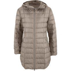 Płaszcz z lekkiego puchu bonprix brunatny. Brązowe płaszcze damskie pastelowe bonprix, z puchu. Za 239,99 zł.