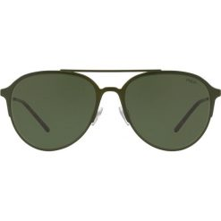 Polo Ralph Lauren - Okulary PH3115. Szare okulary przeciwsłoneczne męskie aviatory marki Polo Ralph Lauren, z materiału. Za 549,90 zł.