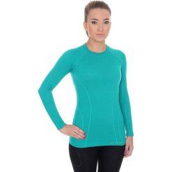 Bluzki sportowe damskie: Brubeck Koszulka damska z długim rękawem Active Wool niebieska r. L (LS12810)