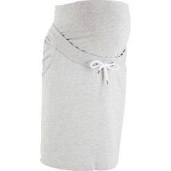 Spódnica dresowa ciążowa bonprix jasnoszary melanż. Niebieskie spódnice ciążowe marki bonprix, z materiału, z dekoltem w serek. Za 59,99 zł.