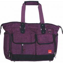 """Torebki klasyczne damskie: Torba """"Baggy"""" w kolorze fioletowym na akcesoria do przewijania – 35 x 32 x 15 cm"""