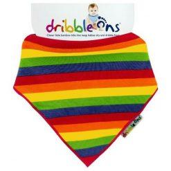 Xkko Śliniaczek Dribble Ons Rainbow. Żółte śliniaki Xkko, z bawełny. Za 32,00 zł.