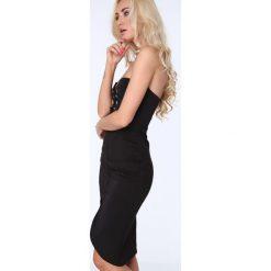 Sukienka z wiązaniem czarna ZZ222. Czarne sukienki Fasardi, l. Za 89,00 zł.
