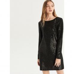 Sukienka z cekinami - Czarny. Czarne sukienki Sinsay, m. Za 129,99 zł.