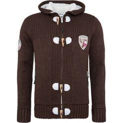 """Swetry rozpinane męskie: Kardigan """"Jedro"""" w kolorze brązowym"""
